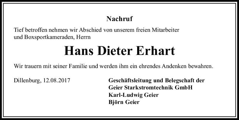 Hans Dieter Erhart nachruf